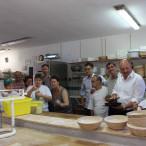 Die Bäckerei der Dorfgemeinschaft Hohenroth stand ebenfalls auf unserem Programm. Links neben mir Dorfleiter Mario Kölbl.